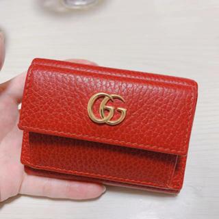 Gucci - GUCCI GGマーモント 財布 三つ折り財布