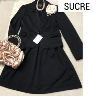 【M】新品 SUCRE ツイードスーツ  ブラック 卒業式 入学式