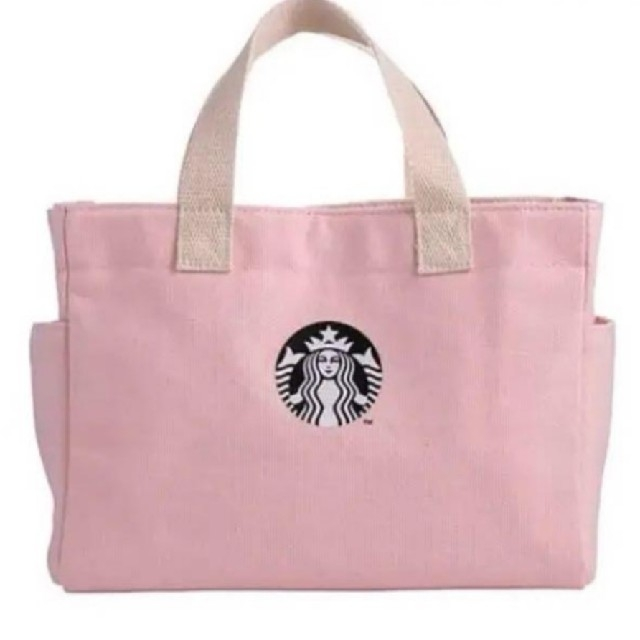 Starbucks Coffee(スターバックスコーヒー)のスタバ ピンク トートバッグ バレンタイン 限定 レディースのバッグ(トートバッグ)の商品写真