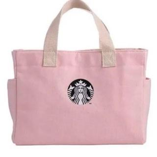 Starbucks Coffee - スタバ ピンク トートバッグ バレンタイン 限定