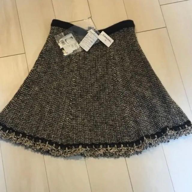 CHANEL(シャネル)の正規品 CHANEL  ミックスニットスカート   レディースのスカート(ひざ丈スカート)の商品写真