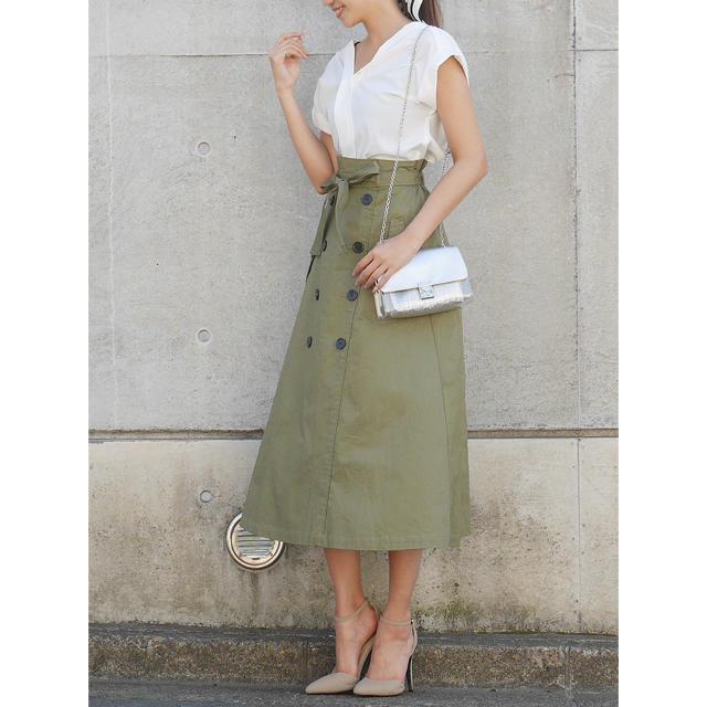 ROYAL PARTY(ロイヤルパーティー)の【WEB限定】ロングトレンチフレアスカート レディースのスカート(ロングスカート)の商品写真