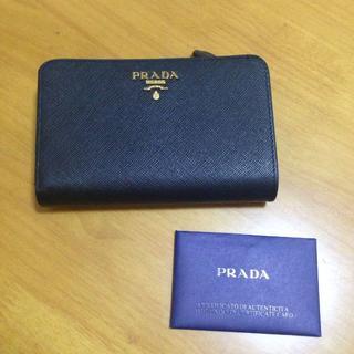 PRADA - プラダ 折り財布 ブラック