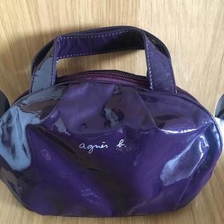 agnes b. - アニエスベー 化粧ポーチ 紫 光沢