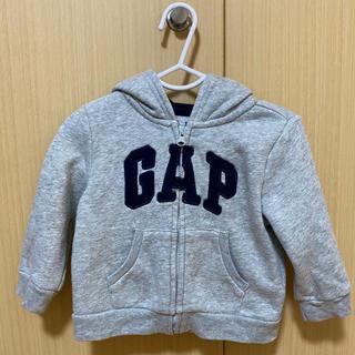 babyGAP - babyGAP パーカー 80 くま耳 グレー ロゴ