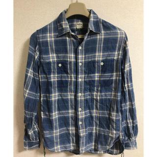 オシュコシュ(OshKosh)のOshKosh カジュアル チェックシャツ 長袖 Mサイズ ブルー 青(シャツ)