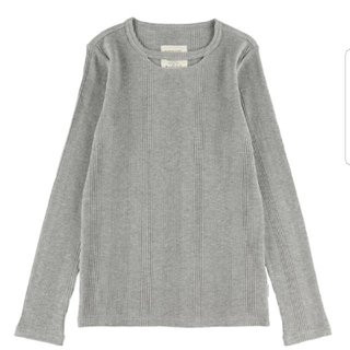 ALEXIA STAM - ALEXIASTAM  Cut Out Neck Waffle Top Gray