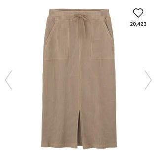 GU - 【美品】GU ワッフルドローストリングナロースカート