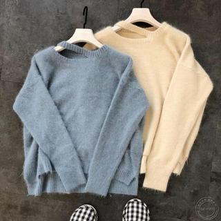 snidel - カットデザインセーター(薄紫)