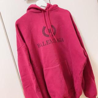 Balenciaga - BALENCIAGA フーディパーカー レッド XS