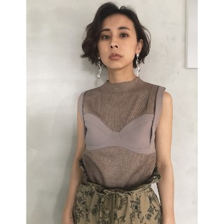Ameri VINTAGE - アメリヴィンテージ BUSTIER DOCKING KNIT