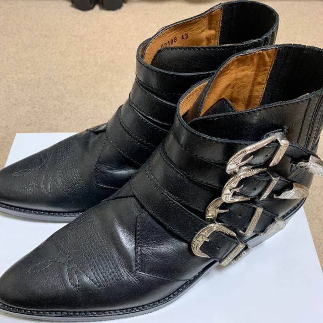 TOGA(トーガ)のTOGA VIRILIS バックル レザー Western アンクルブーツ 43 メンズの靴/シューズ(ブーツ)の商品写真