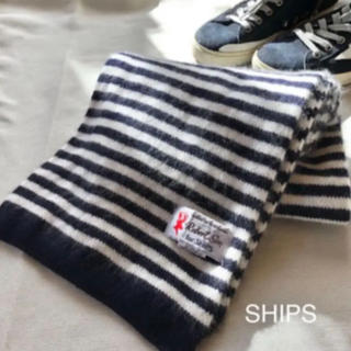 SHIPS - 【美品】Robert Sim×SHIPSのマフラー