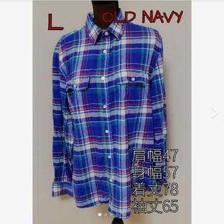 オールドネイビー(Old Navy)のGEᖇIᖇᗩ's shop☆*° OLD NAVY ブルー系ネルシャツ サイズL(シャツ)