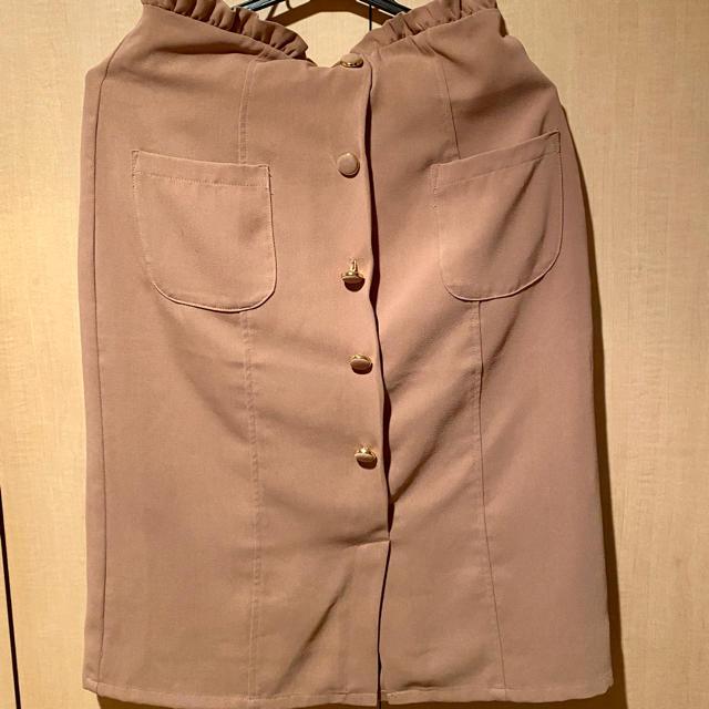 MAJESTIC LEGON(マジェスティックレゴン)のMAJESTIC LEGON スカート キャメル レディースのスカート(ひざ丈スカート)の商品写真