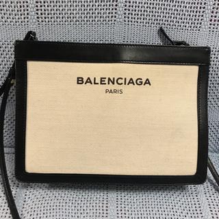 Balenciaga - BALENCIAGA ネイビー ポシェット ショルダーバッグ