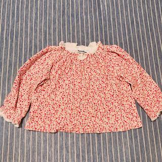 familiar - 【美品】ファミリア  花柄シャツ 80センチ