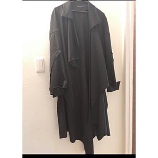 Yohji Yamamoto - Yohji yamamoto DRAPED WRAP SHIRT DRESS