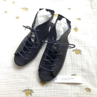 ヨウジヤマモト(Yohji Yamamoto)の✴︎確認用✴︎ YohjiYamamoto レースアップサンダル 4 24(ローファー/革靴)