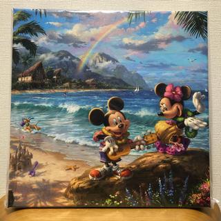 ディズニー(Disney)のDisney ミッキー&ミニー  画 キャンバス 正規品保証ホログラム付(絵画/タペストリー)