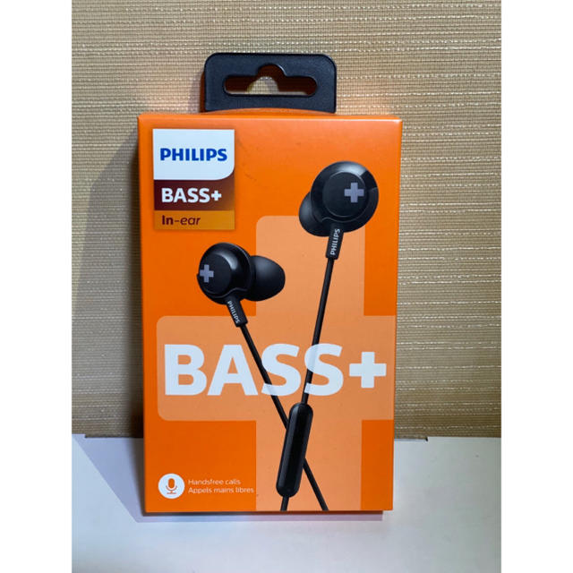 PHILIPS(フィリップス)のPHILIPS BASS+ SHE4305 スマホ/家電/カメラのオーディオ機器(ヘッドフォン/イヤフォン)の商品写真