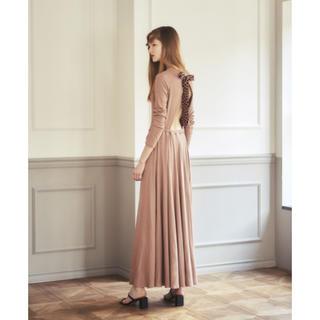 Rosary moon - ROSARYMOON Back Ribbon-Tie Jersey Dress