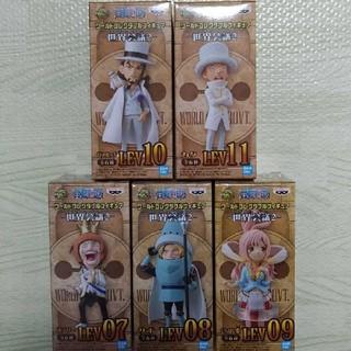 バンダイ(BANDAI)のワンピース ワールドコレクタブルフィギュア 世界会議2 サボ等 5個セット(キャラクターグッズ)