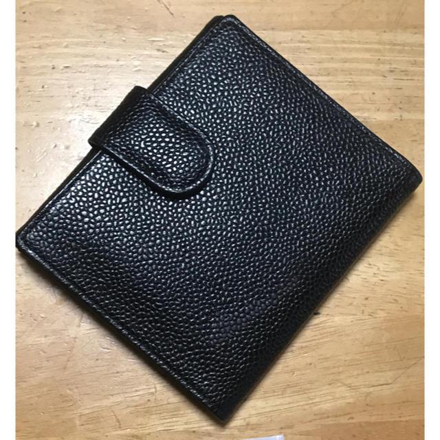 CHANEL(シャネル)の112 CHANEL シャネル キャビアスキン wホック財布 レディースのファッション小物(財布)の商品写真