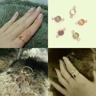 華奢カワ★stone ring*5カラー(リング(指輪))