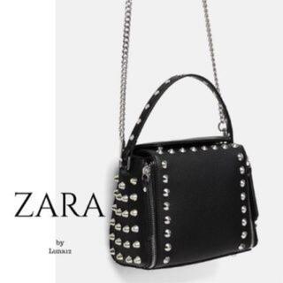 ZARA - 美品 完売 スタッズ  ショルダー バッグ