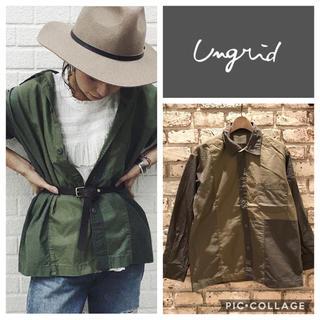 Ungrid - Ungrid**パッチワークミリタリーシャツ