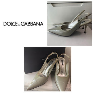 DOLCE&GABBANA - ドルチェ&ガッバーナ グレーエナメル  パンプス