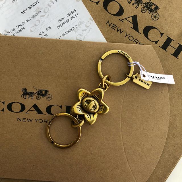 COACH(コーチ)のホワイトデー新生活へのプレゼントにもコーチ2つに分かれるキーリング キーホルダー レディースのファッション小物(キーホルダー)の商品写真