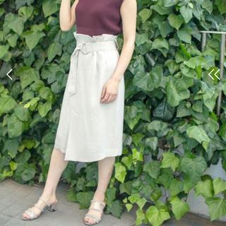 ステュディオス(STUDIOUS)のSTUDIOUS リネンライクハイウエストIラインスカート(ひざ丈スカート)