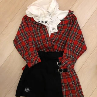 ベビードール(BABYDOLL)のタグ付き新品 ピンクハント pinkhunt チェック セットアップ スカパン(スカート)