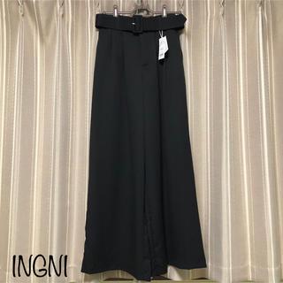 INGNI - INGNI 新品タグ付き 共ベルト付ワイドパンツ