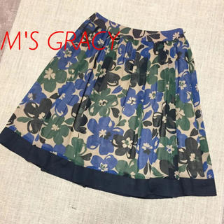 M'S GRACY - 美品 M'S GRACY デイジー柄 フレアスカート 38