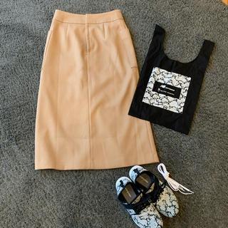 ユナイテッドアローズ(UNITED ARROWS)のアローズ グリーンレーベルベージュボックススカート(ロングスカート)