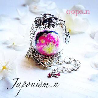 Japonism.n.18 びんてまり 桜 手毬 クローバー ネ四つ葉 ックレス(ネックレス)