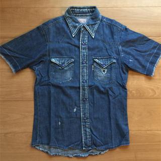 ブルーブルー(BLUE BLUE)のBLUE BLUE☆リメイク デニム半袖シャツ(シャツ)