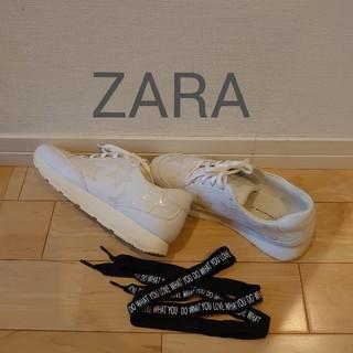ZARA - ZARAザラスニーカー24.5cm白39星柄人気完売