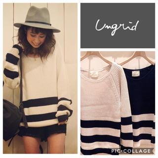 Ungrid - Ungrid**ハーフボーダーニット