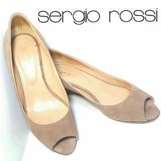 Sergio Rossi - sergio rossi☆ セルジオロッシ★ウェッジソールスエード調パンプス !
