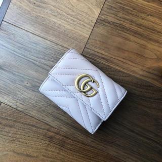 Gucci - グッチ  マーモント  上品 ピンク お財布