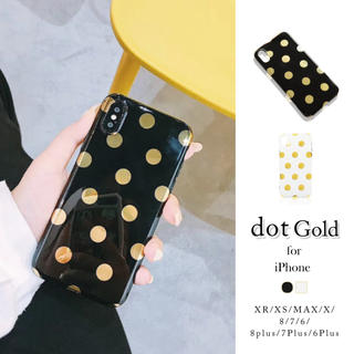 iphone ブラック ケース ドット柄 ゴールド ケース カバー 可愛い
