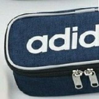 アディダス(adidas)の三菱鉛筆 アディダス ペンケース ボックスタイプ ネイビー 筆箱(ペンケース/筆箱)