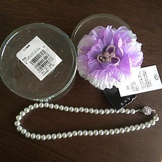 a.v.v - 【新品未使用】イトキン a.v.v  真珠コサージュ & パールのネックレス