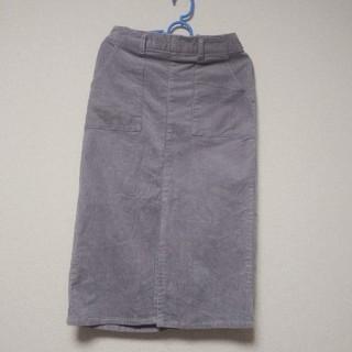 ヘザー(heather)のヘザー コーデュロイIラインスカート(ひざ丈スカート)