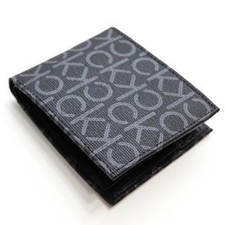 Calvin Klein - 新品 カルバンクライン 二つ折り財布 ブラック 小銭入れ付き ロゴ モノグラム