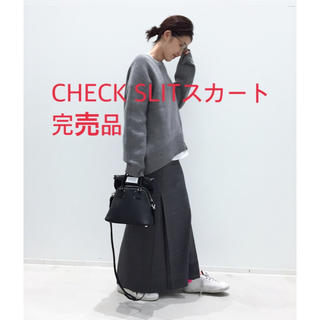 L'Appartement DEUXIEME CLASSE - L'Appartement アパルトモンCHECK SLIT スカート完売品